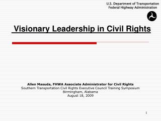 Visionary Leadership in Civil Rights