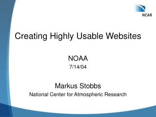 Creating Highly Usable Websites