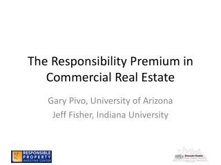 The Responsibility Premium in Commercial Real Estate