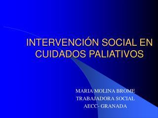 INTERVENCI N SOCIAL EN CUIDADOS PALIATIVOS