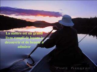 La nature est un grand livre rempli de le ons   d couvrir et de beaut    admirer