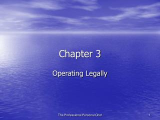 Operating Legally