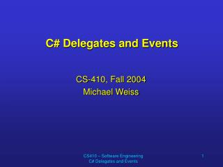 C Delegates and Events