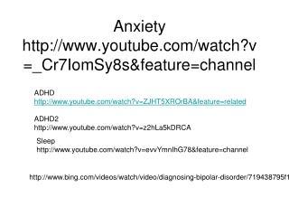 Anxiety youtube
