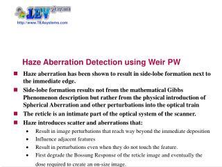 Haze Aberration Detection using Weir PW