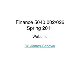 Finance 5040.002