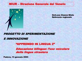 MIUR   Direzione Generale del Veneto