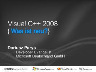 Visual C 2008 { Was ist neu}