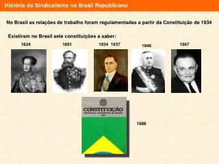 Hist ria do Sindicalismo no Brasil Republicano