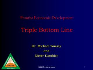 Proutist Economic Development   Triple Bottom Line