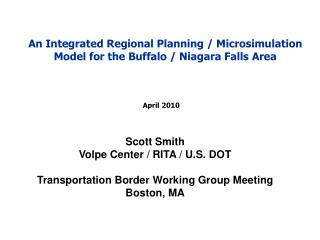 An Integrated Regional Planning