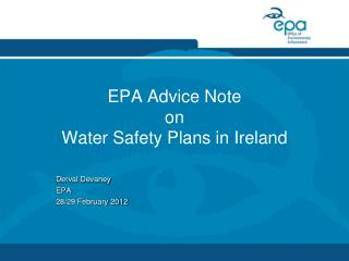 EPA Advice Note  on Water Safety Plans in Ireland