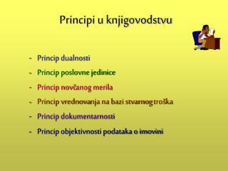 Principi u knjigovodstvu