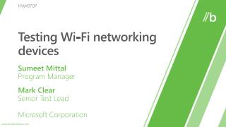 Testing Wi-Fi networking devices