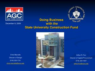 Doing Business  with the  State University Construction Fund