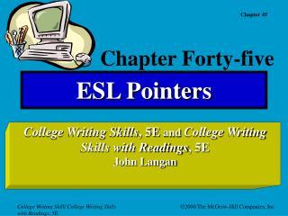 ESL Pointers