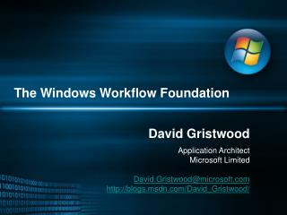 The Windows Workflow Foundation