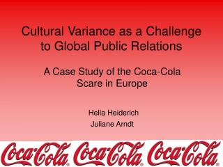 Cultural Variance as a Challenge to Global Public Relations