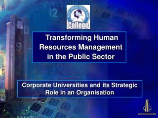 Transforming Human Resources Management in the Public Sector