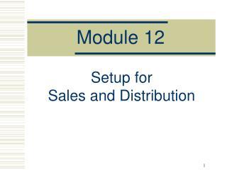 Module 12