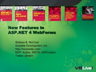 New Features in  ASP 4 WebForms