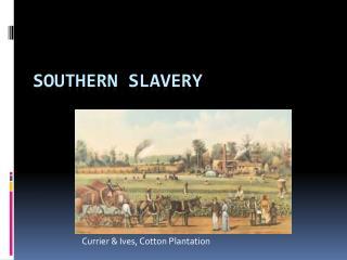 Antebellum Southern Slavery
