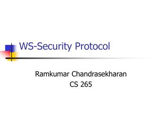 WS-Security Protocol