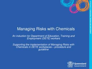 Managing Risks with Chemicals