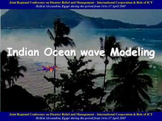Indian Ocean wave Modeling