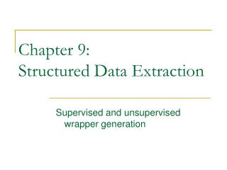 Chapter 9: Structured Data Extraction