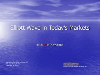 Elliott Wave in Today s Markets