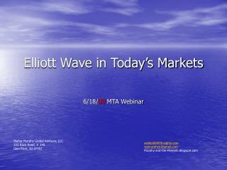 Elliott Wave in Today s Markets