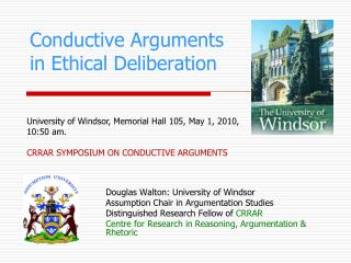 Conductive Arguments in Ethical Deliberation