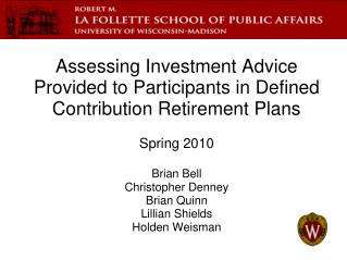 Assessing Investment Advice Provided to Participants in Defined Contribution Retirement Plans