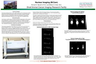 Nuclear Imaging M.Cam  Richard E. Wendt III, Ph.D. and William D. Erwin, M.S. Small Animal Cancer Imaging Research Facil