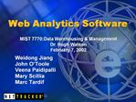 Web Analytics Software