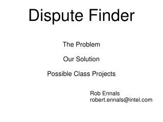 Dispute Finder