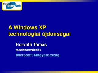 A Windows XP  technol giai  jdons gai