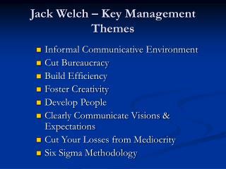 Jack Welch   Key Management Themes