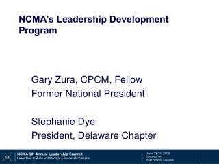 NCMA s Leadership Development Program