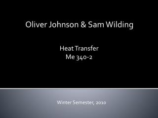 Oliver Johnson  Sam Wilding