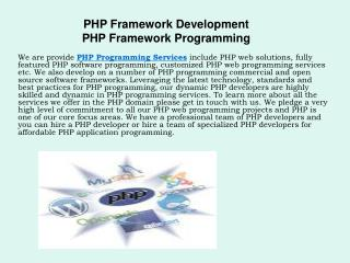 Hire Dedicated PHP Framework Developers - PHP Programmers
