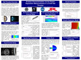 Erosion Characterization via Ion Power Deposition Measurements in a 6-kW Hall Thruster Rohit Shastry, Professor Alec D.