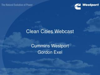 Clean Cities Webcast