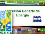 Direcci n General de Energ a