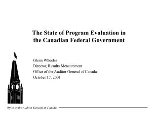 The State of Program Evaluation in  the Canadian Federal Government
