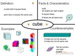 Math Vocabulary Cube