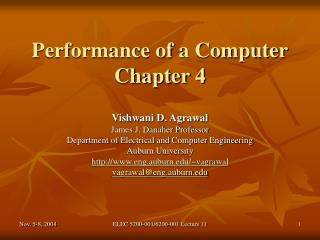 Performance of a Computer Chapter 4