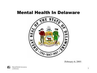 Mental Health In Delaware