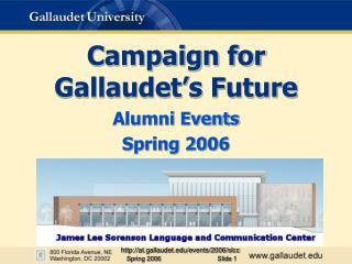 Campaign for  Gallaudet s Future